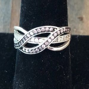 Stamped 925 CZ Silver Ring